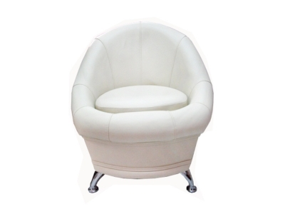 Банкетка - кресло Гранд 6-5104 Экокожа Белая
