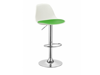 Барный стул BN 3803 белый с зеленым