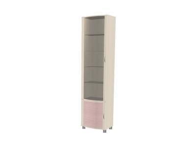ШК-922 Шкаф многоцелевой 2172х448х396 Дуб Беленый с розовыми вставками