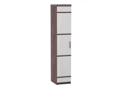 Шкаф 1-но дверный для белья №2 Ольга 13 ясень анкор темный-светлый