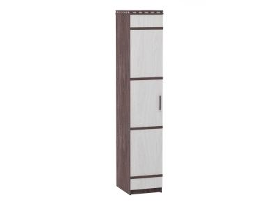 Шкаф 1-но дверный для белья Ольга 13 ясень анкор темный-светлый