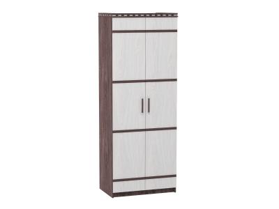Шкаф 2-х дверный для белья Ольга 13 ясень анкор темный-светлый