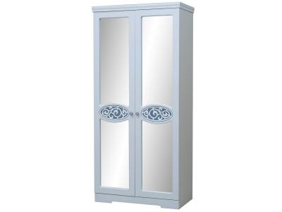 Шкаф 2-х дверный для одежды и белья Ольга 12 МДФ