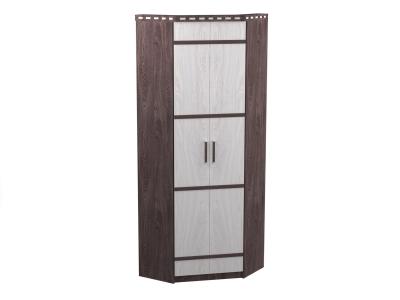 Шкаф 2-х дверный угловой Ольга 13 ясень анкор темный-светлый