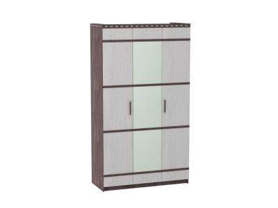 Шкаф 3-х дверный для одежды и белья Ольга 13 ясень анкор темный-светлый