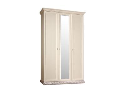 Шкаф 3-х дверный с зеркалом для платья и белья ТФШ1/3 Тиффани Штрих серебро