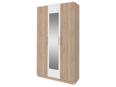 Шкаф 3-х дверный с зеркалом Оливия Дуб сонома/Белый СТЛ.109.06 1200х590х2240