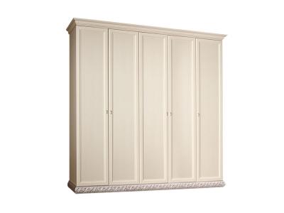 Шкаф 5-ти дверный без зеркал для платья и белья ТФШ2/5 Тиффани Штрих серебро
