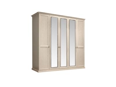 Шкаф 5-ти дверный с зеркалами для платья и белья ВНШ1/5 Венеция
