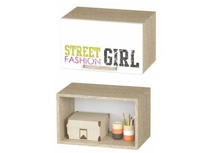 Шкаф антресольный Сенди АН-03 484х300х302 для девочки
