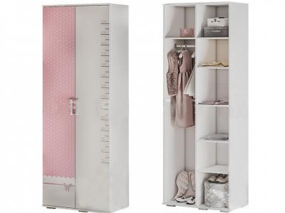 Шкаф для одежды ШК-09 Трио белый/принцесса