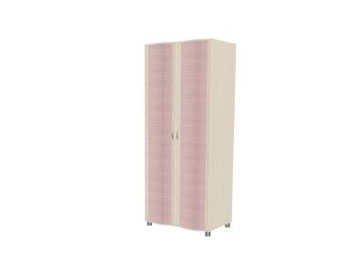 Шкаф для одежды и белья ШК-905 2172х896х620 Дуб Беленый с розовыми вставками