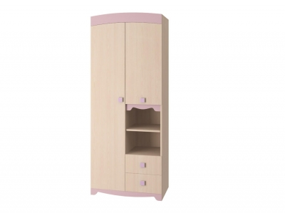 Шкаф для одежды Пинк ИД 01-140А 450х866х2147