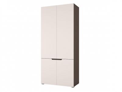 Шкаф двухстворчатый Анталия Венге-Белый софт
