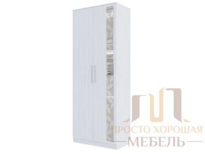 Шкаф двухстворчатый универсальный Николь 1 со стеклами