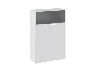 Шкаф комбинированный с 2 дверями Наоми ТД-208.07.29 Белый глянец