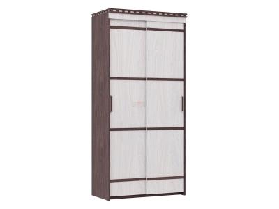 Шкаф купе 2-х дверный Ольга 13 ясень анкор темный-светлый