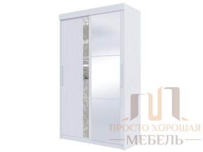 Шкаф-купе №21 1350 мм с зеркалом и стеклом