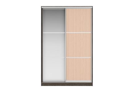 Шкаф-купе Джонни Вариант 8 Фасады Тройной ЛДСП и Тройное Зеркало
