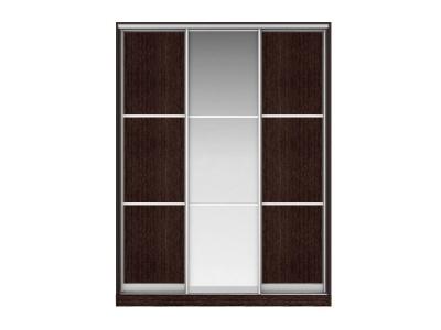 Шкаф-купе Наоми Вариант 5 Фасады Тройной ЛДСП - Тройной Зеркало - Тройной ЛДСП