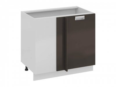 Шкаф напольный с планками для формирования угла правый Н_72-90_1ДРпУ(А) Бьюти Грэй