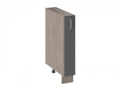 Шкаф напольный с выдвижной корзиной НВК_72-15_ВК Одри Серый шелк