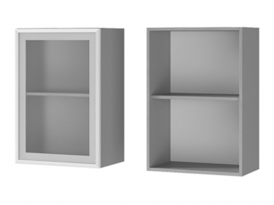 Шкаф настенный 1-дверный со стеклом 500х720х310 5В2 БТС МДФ