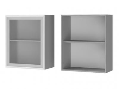 Шкаф настенный 1-дверный со стеклом 600х720х310 6В2 БТС МДФ