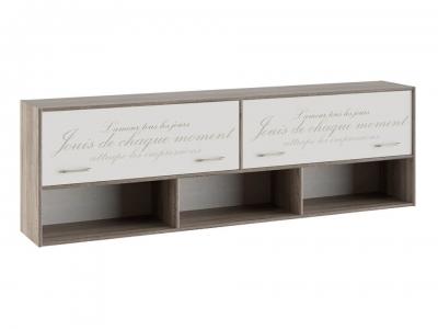 Шкаф настенный Брауни ТД-313.12.21 Бежевый с рисунком, Дуб Сонома трюфель
