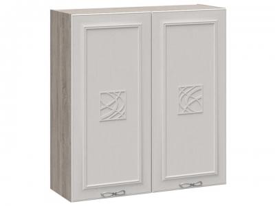 Шкаф навесной c декором В_96-90_2ДР(Д) Сабрина
