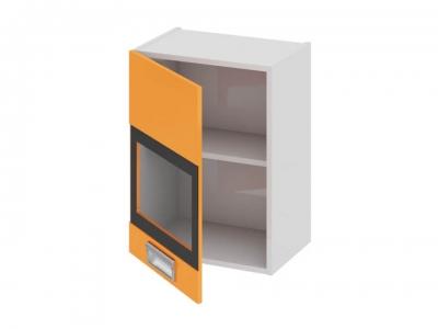 Шкаф навесной со стеклом левый В_60-45_1ДРс(А) Бьюти Оранж