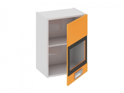 Шкаф навесной со стеклом правый В_60-45_1ДРс(Б) Бьюти Оранж