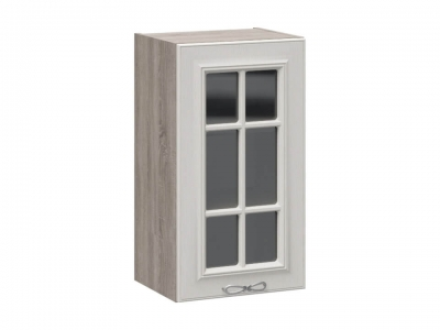 Шкаф навесной со стеклом В_72-40_1ДРс Сабрина