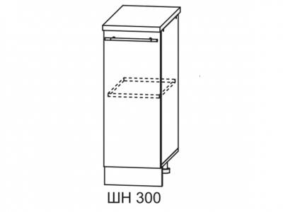 Шкаф нижний 300мм стол рабочий С 850х300мм МДФ сандал б/столешницы Империя
