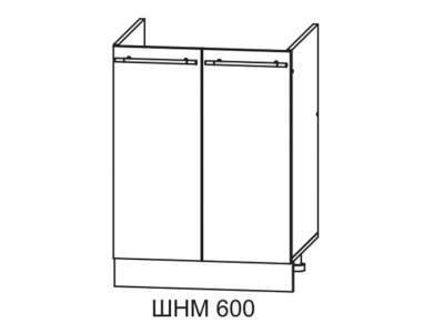 Шкаф нижний 600мм мойка СМ 850х600мм МДФ сандал б/накл мойки 600мм Империя