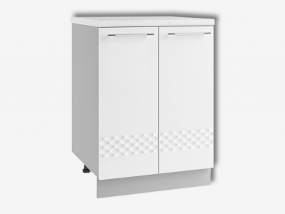 Шкаф нижний 600мм стол рабочий С 850х600мм МДФ белый Капля
