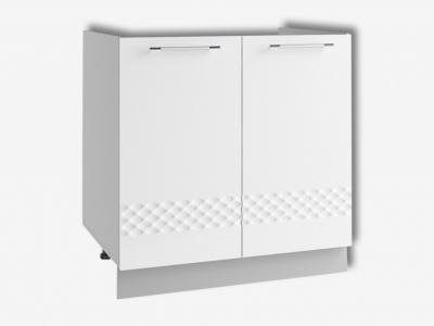 Шкаф нижний 800мм мойка СМ 850х800мм МДФ белый Капля