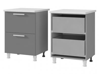 Шкаф-стол с 2-мя ящиками 600х820х600 6Р2 БТС МДФ