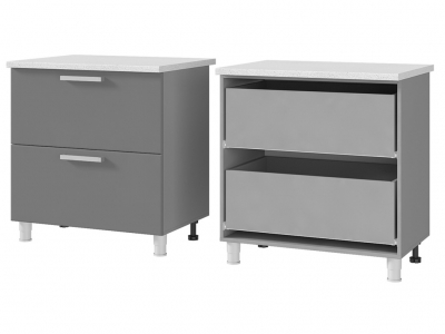 Шкаф-стол с 2-мя ящиками 800х820х600 8Р2 БТС МДФ