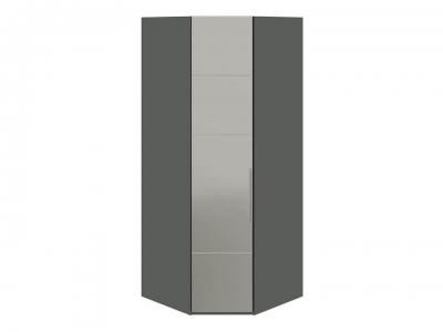 Шкаф угловой с 1 зерк. левой дверью Наоми СМ-208.07.07 L Серый, Джут