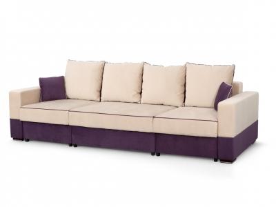 Диван Бостон 2800 2 вариант Бежево-фиолетовый велюр