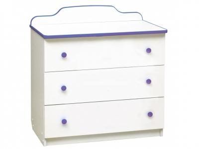 Комод с 3-мя ящиками Радуга фиолетовый