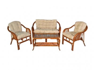 Комплект Маркос с диваном коньяк