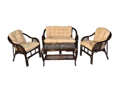 Комплект Маркос с диваном темно-коричневый