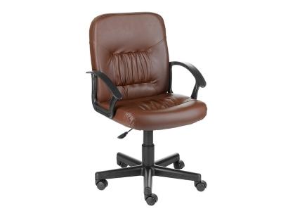 Компьютерное кресло Чип коричневый кожзам