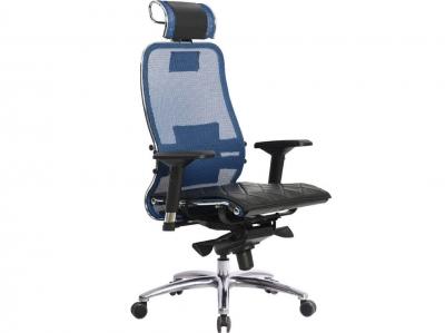 Компьютерное кресло Samurai S-3.04 синий с ковриком СSm-10