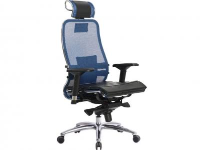 Компьютерное кресло Samurai S-3.04 синий с ковриком СSm-25