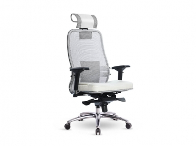 Компьютерное кресло Samurai SL-3.04 белый лебедь