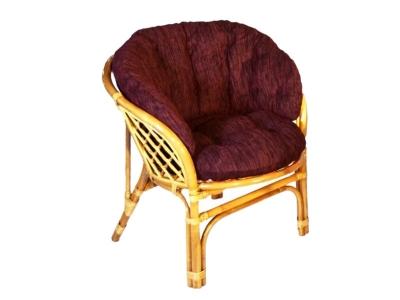 Кресло Багама мед с темной полной подушкой