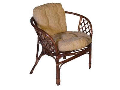 Кресло Багама молочный шоколад со светлой подушкой